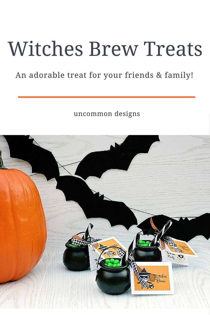 Serve up these adorable Witches Brew Halloween Treats to your family and friends.  These cute cauldrons full of bubbling sweetness are great for party favors, classroom parties, and boo gifts!    Uncommon Designs