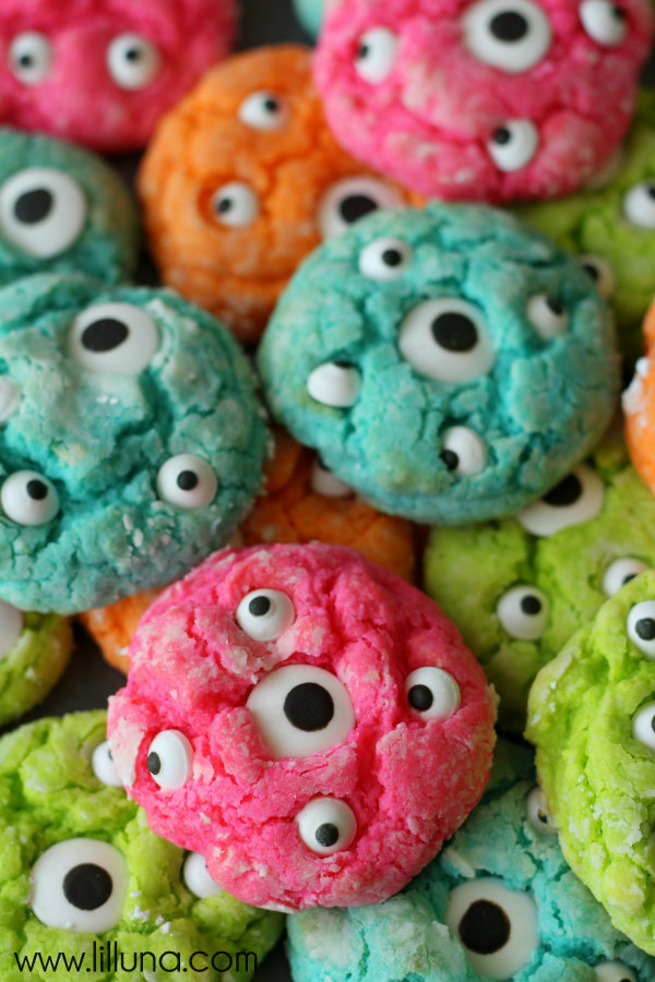 Gooey Monster Cookies by Lil Luna