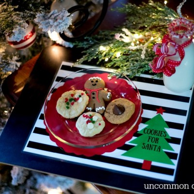 Cookies for Santa Free Printable Placemats