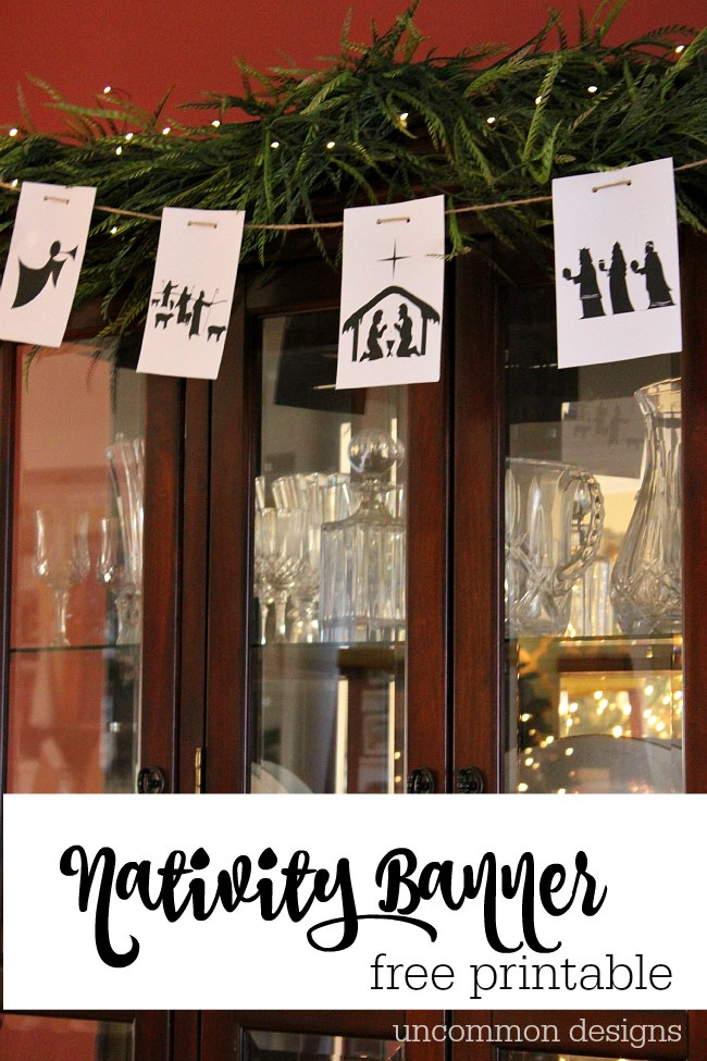 Free Printable Nativity Banner | Uncommon Designs