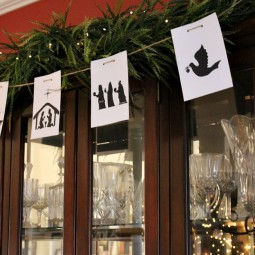 Free Printable Nativity Banner | Uncommon Designs