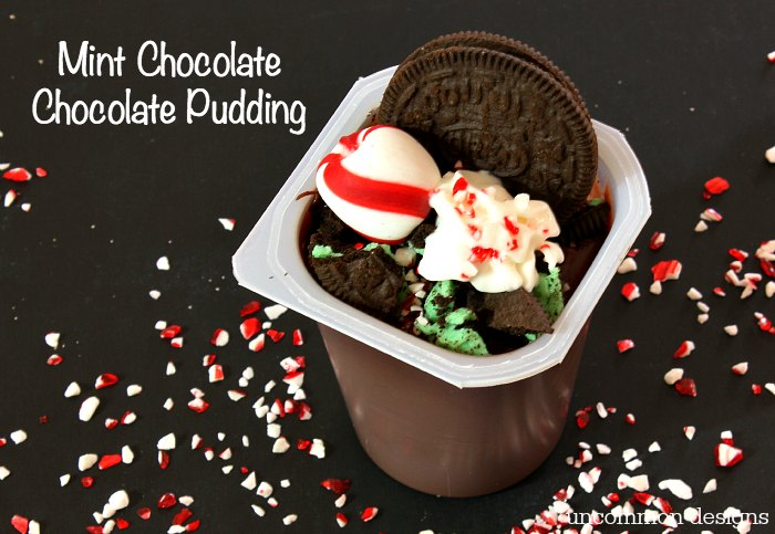 mint chocolate chocolate pudding