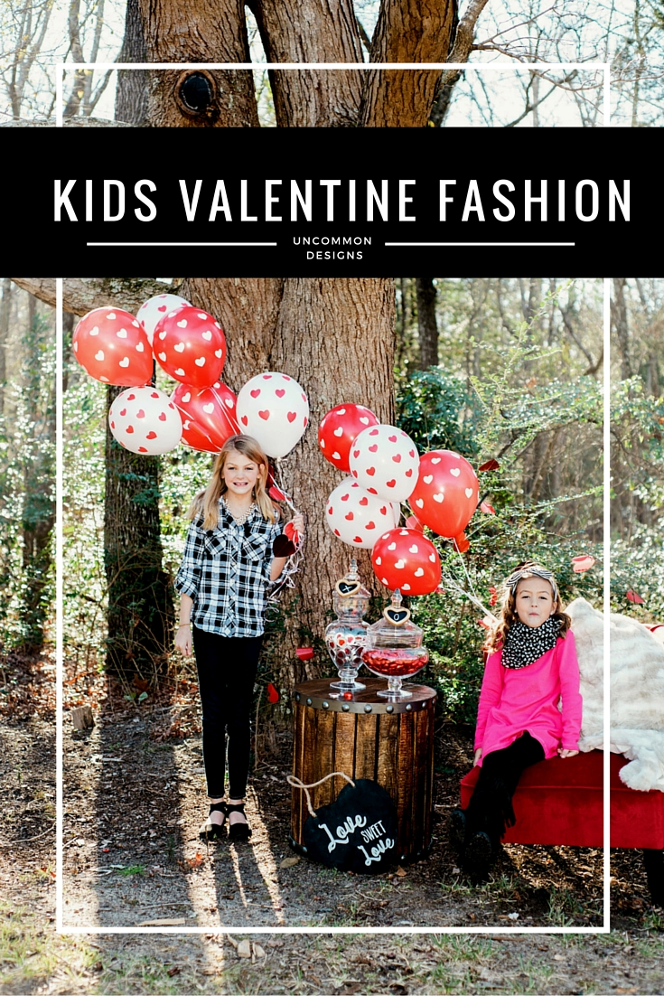 Kids Valentine Fashion Ideas. Cute and affordable outfit options for tween girls | Uncommon Designs