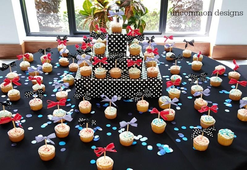Cheer Banquet Ideas: Centerpiece Ideas, Tissue Flowers, and Cheer Bow Napkins!