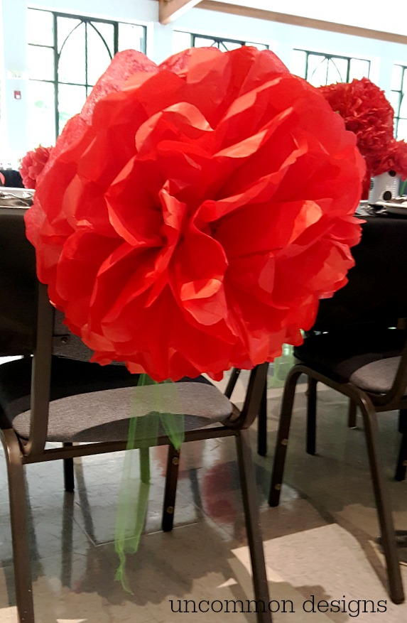tissue paper chair flower