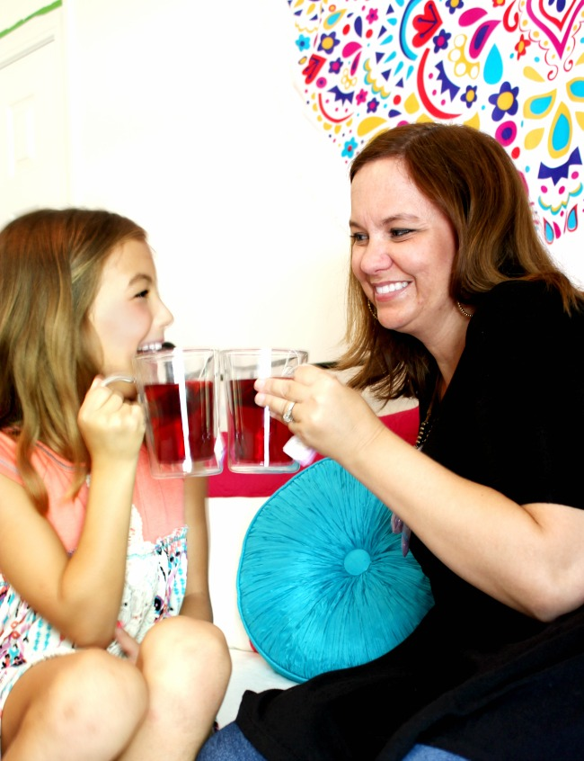 One of my most favorite passions is spending time with my girls. We enjoyed a quick tea party together and they were completely themselves! So much fun! #SipJoyfully