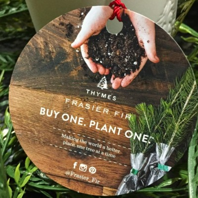This year decorate and give with a purpose with Thymes candles and their Buy One. Plant One. Campaign #ad #BestGiftEver #BuyOnePlantOne #FrasierFir #DiscoverThymes #SmellsLikeChristmas