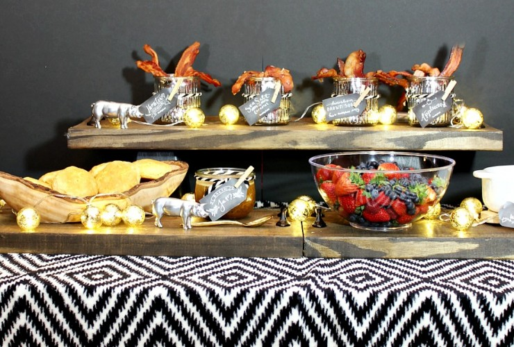 Throw a fun holiday brunch with a themed bacon bar. It is so much fun and who doesn't love bacon? You can also enter to win bacon for a year!
