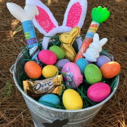 Filled Easter Galvanized Bucket