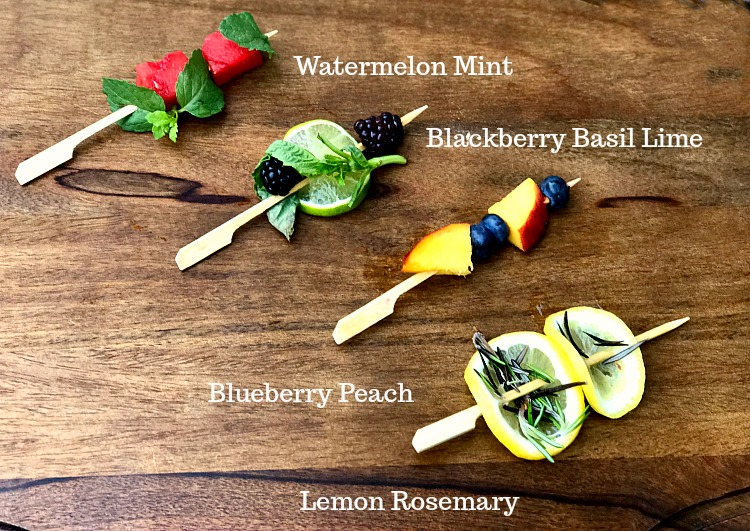 Fruit and Herb Drink Skewers