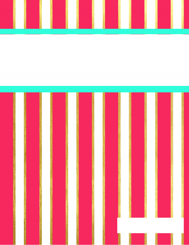 Mint and Pink Stripes