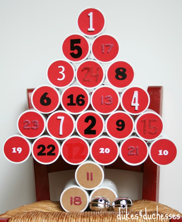 PVC Pipe Advent Calendar by Dukes and Duchesses