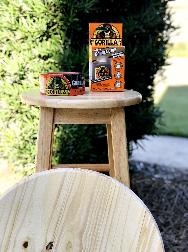 Make a bedside table in just 30 minutes with easy to find supplies. No power tools required!