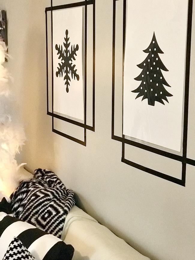 DIY Washi Tape Wall Frames - Uncommon Designs