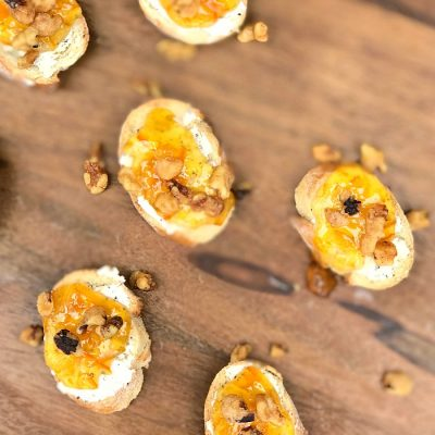 Orange Marmalade Walnut Crostini