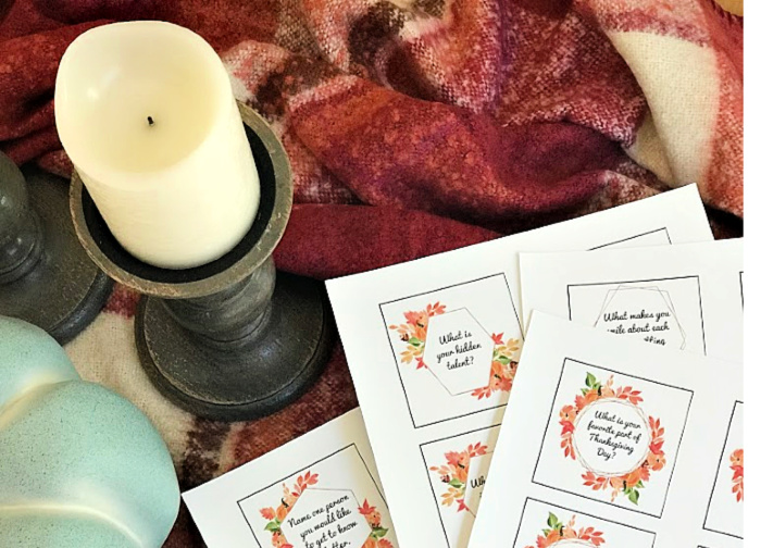 Take your Thanksgiving table talk up a notch with these free printable Thanksgiving Conversation Starters! These are perfect for every family to share around the Thanksgiving table!      #Thanksgiving #ThanksgivingIdeas #ThanksgivingTraditions #ThanksgivingPrintable #ThanksgivingTable