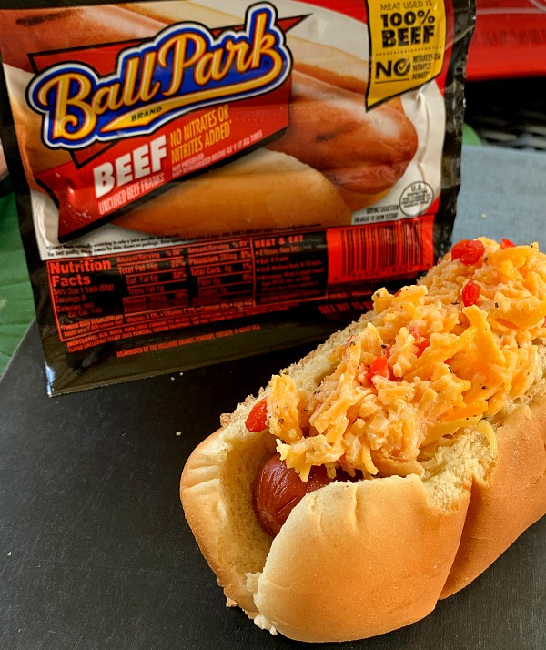 Grilled Pimiento Cheese Hot Dogs for a grilling recipe that makes a fast dinner!