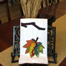 Falling for Fall... { Leaf Appliqued Towel }