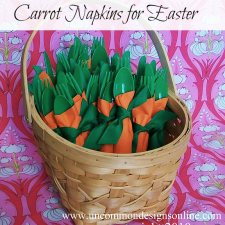 How To Make DIY Carrot Napkins