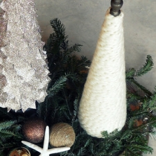 Ten Minute Cable Knit Trees to Last You Through Winter