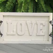 Pottery Barn Inspired LOVE Wall Art Plaque