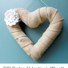 DIY Burlap Valentine's Wreath