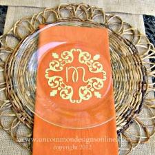 DIY Monogrammed Plates