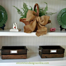 DIY Vintage Crate... Summer Reading Station Tutorial