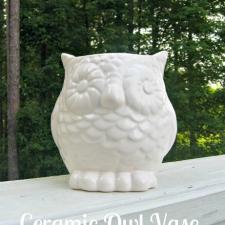 Ceramic Owl Vase... AKA Get To Target!