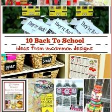 10 Back to School Ideas