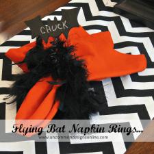 Flying Bat Napkin Rings