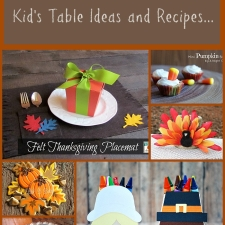 Thanksgiving Kid's Table Ideas and Recipes ...