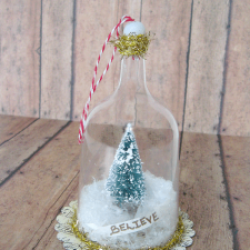 Bell Jar Christmas Ornament Tutorial