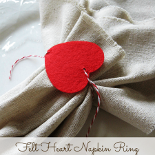 Felt Heart Valentine Napkin Rings
