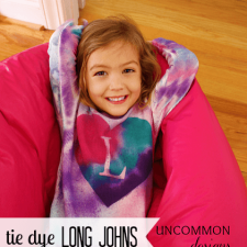 DIY Tie Dye Long Johns