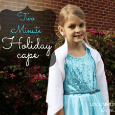 How To Create A No Sew Two Minute Holiday Cape