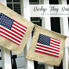 Burlap 4th of July Flag Banner