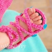 Gladiator Sandal Crochet Pattern for Baby