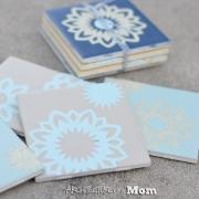 Doily Tile Coasters