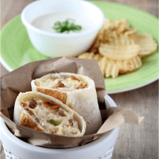 Chicken Bacon Ranch Tortilla Pockets