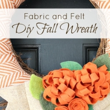 Fabric and Felt DIY Fall Wreath