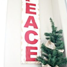 DIY Pottery Barn Knockoff Holiday Peace Sign