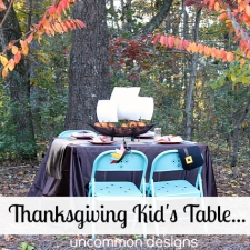 Set a Fabulous Kid's Thanksgiving Table