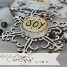 Burned Wood Christmas Ornaments
