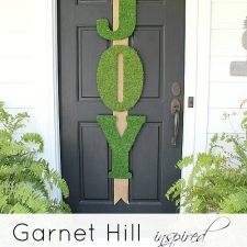 Garnet Hill Inspired Moss JOY Letters