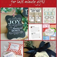 7 Printables for Last Minute Christmas Gifts