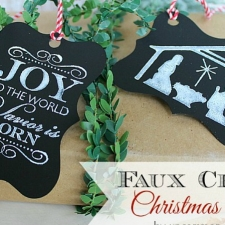 How To Make Faux Chalk Christmas Tags