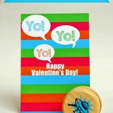 Printable Yo-Yo Valentine's Card
