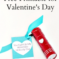 You Light Up My World Free Printable Valentine Cards