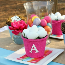 DIY Monogrammed Easter Baskets